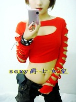 Costume sexy cutout hiphop hip-hop top jazz ds costume