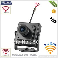 EMS Free Shipping: 2.4GHz Mini Wireless Camera ;2.4G Wireless outdoor CCTV Color camera