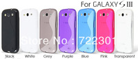 New 2013 Silicone Gel Case and Screen Protector for Samsung Galaxy S3 i9300 ,Free DHL/EMS Service