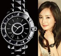 Classic Branded VIII Ceramic Watch women wristwathes Crystal Dial Designed Women's Black / White Wrist watch with Diamonds