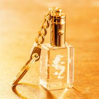 Zodiac keychain car key chain gift crystal inside carving male girls