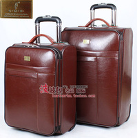 Trolley luggage travel bag luggage suitcase genuine leather commercial woodpecker 20 24