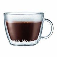 Bodum Bistro Double-Wall Insulated Glass coffee shop Latte Mug, Set of 2