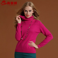 Spring heap turtleneck women's pure sweater sweater slim all-match 5 basic shirt