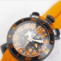 Watch quartz gaga milano unisex table popular big dial vibrant orange 30g 1