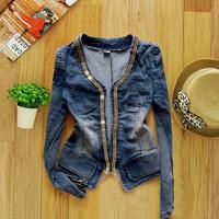 Women's Autumn and Winter Denim Coat Outerwear Short Design Denim Female Long-sleeve Short Jacket Spring Women Top