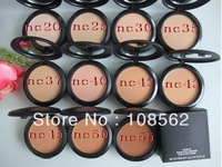 Hot sale  powder plus foundation studio fix +powder puffs 15g (2 pcs/lot)