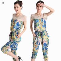 2013 female ol fashion plus size chiffon jumpsuit harem pants jumpsuit