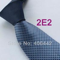 Coachella Men's ties New design Navy Knot Contrast Blue Navy Spots Dots Two Tone Woven Necktie Formal Neck Tie for dress Wedding