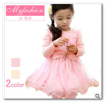 Autumn Kids Children Girls Butterfly Long Sleeve Lace Tutu Dress Holiday Dresses 2011