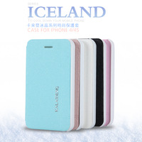 Free shipping for iphone 4 4s KLD ICELAND series of fashion phones protective sleeve. Solid color.