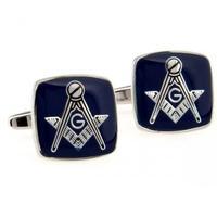 groomsmen gifts Blue Color Masonic Cufflinks