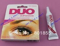 Free shipping 100 pcs/lot  DUO eyelash adhesive waterproof False eyelashes glue 9G black eyelash glue. DUO WATERPROOF EYELASH