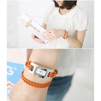 free shipping Orange strap rope square bracelet watch star bracelet 5366 - 1