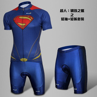 New Arrival G-Like Superman  Summer Cycling Bicycle Bike Breathable Quick Dry jersey T shirt &  Shorts