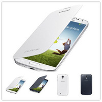 For Samsung Galaxy S4 i9500 Original New Slim Side back battery Flip cover Case mobile phone bags free shipping