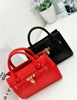 retail NB130 Free shipping 2013 newest western design mivor lady handbags totes women pu bags crocodile bags