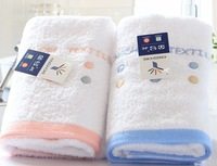 2 PCS/LOT Couple face towels,wash cloth,100% cotton lovers wash towels,Adult face cloth,embroidery 34*74cm 85g FREE SHIPPING