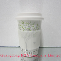 Wholesale 100pcs/lot Eco 'I'm Not a Paper Cup' Travel Mug Ceramic cup Four Seasons tree elegance mug trees