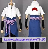 Free shipping Custom Cheap Sasuke Cosplay Costume (4th) from Naruto Shippuuden Christmas
