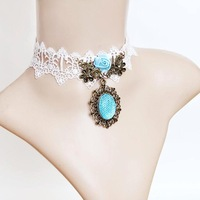 Love sea white lace necklace false collar fashion accessories