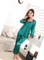 New Summer Thin Long-sleeve Plus Size High Quality Sleepwear Pajamas