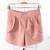 High quality women's df24 2013 summer solid color roll up hem double pocket three-dimensional cut shorts