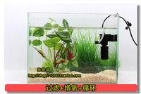 Small mini aquarium purifier filter bucket built-in mute oxygen pump three-in fish tank submersible pump filter freeshipping