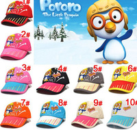 Free Shipping!Supernova Sale 2013 New Fashion Lovely Penguin Cartoon 100%Cotton Baseball Caps For Children