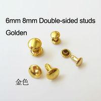 100Pcs 6mm gold double-side metal rivetfor metal hardware luggage hardware