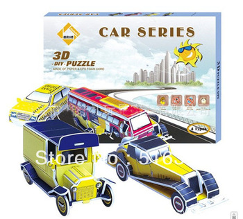 Education Mini car 3D Puzzle - DIY Jigsaw puzzed,Famous toy of kids