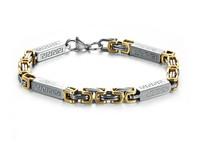 Golden Steel Gold Filled Bracelets Chinese Style Charm Bracelet Man Rope Bracelets & Bangles For Men Pulseira Braccialetti