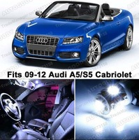 Free Shipping LED Lights Interior Package Kit for Audi A5 S5 Cabriolet 8F7