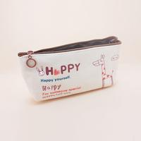 Zakka korea stationery animal canvas pencil case student pencil case stationery bags pen curtain