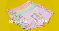 2013 free shipping girl fashion children underware cartoon kids briefs modal boxer briefs girls underpants 10pcs/lot