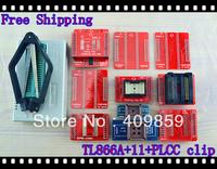 Free shipping V6.0 English&Russian Manual TL866A+PL clip+40A\B+PLCC32/44+TSOP32/40/48+SOP44+SOP56 USB Universal Bios programmer