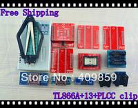 Free shipping V6.0 English&Russian Manual TL866A+PLclips+40A\B+PLCC32/44+TSOP32/40/48USB Universal willem Bios programmer