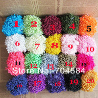 On Sale!!!3600pcs Flower Stamens 20colors Mixed DIY Flowers pearl pistil Excellent Quality Enough Quantity Free shipping