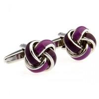 tardis cufflinks Fascinating Purple Epoxy Knot Men's Cufflinks