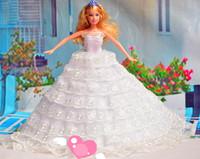 Free shipping Evening Party  Princess dress Royal wedding dress for Barbie Doll BBYF0038