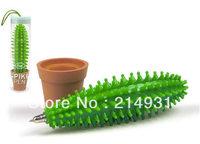Wholesale - 180pcs lot Spike Pen Cactus Pen, Funny Cactus Ballpoint Pen Plant, Free Shipping