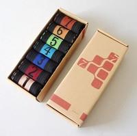 Male Breathable Socks numerical design Cowhide box weekly sox Creative 7 days One week Man Socks Free shipping