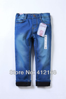 Brand 6935 Wholesale winter fall denim Pants Plus velvetKids 2013 new clothing girls cotton freeshippingThickening