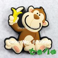 MOQ USD15 Cartoon Animal Refrigerator Stickers Magnets Toy Monkey