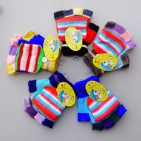 2013 high quality child gloves winter thermal child semi-finger flip gloves