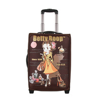 A3109-13 coffee betty boop BETTY fashion cartoon portable travel trolley luggage