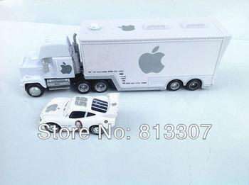 Free Shipping  1set  white apple trucks Pixar Cars plastic Mack Muck Truck Car Toys Retail