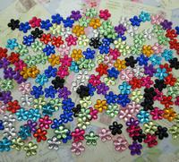 500Pcs Acrylic Mixed Flower Flatback Cabochon Scrapbook 10mm