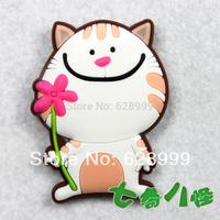 MOQ USD15 mix Refrigerator stickers cartoon cat flower refrigerator stickers set magnetic blackboard stickers