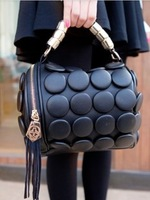 2013 button bucket handbag PU female vintage women's handbag small bag cross-body handbag casual